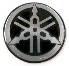 ORIGINAL Yamaha- 3cm -EMBLEM -Aufkleber-S/SILBER-Emblème-Emblema-30mm LOGO