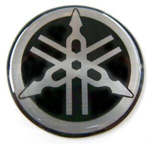 ORIGINAL Yamaha- 4,5cm -EMBLEM -Aufkleber-S/SILBER-Emblème-Emblema-45mm LOGO