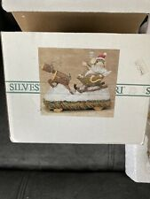 Charming Tails Christmas Mouse Sleigh Figure