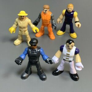 5PCS Imaginext Deep Sea Yellow Submarine Rescue Fire Workers Figures Kids Toy