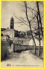 cpa 77 - CHÂTEAU LANDON (Seine et Marne) CHEMIN dans la PRAIRIE