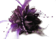 Flower Feather Bead Corsage Hair Clips Fascinator Hairband and Pin