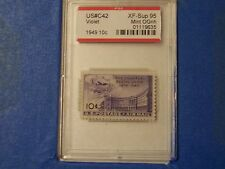 # C 42 1949 Air Mail Pse Graded Xf Sup 95 Ognh Free Us Shipping