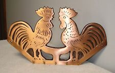 copper electroplating cast iron Rooster Hook/key rack Farm Country Decoration