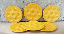 6 assiettes huitres Proceram vintage Jaune orange