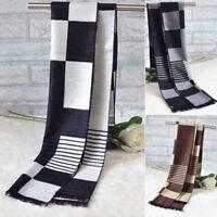 Sales Fashion Men Winter Warm Classical Scarf Tassels Scarves Long Silk Shawl