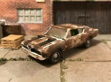 1969 Plymouth Rusty Weathered Barn Find Custom 1/64 Diecast Car Farm Barracuda