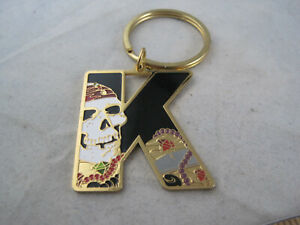 Walt DisneyLand Letter - K Initial - Keychain Keyring - Pirates of the Caribbean