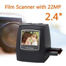22MP Film Scanner 126KPK/135/110/Super 8 Films Color LCD Viewer Compatible Mac