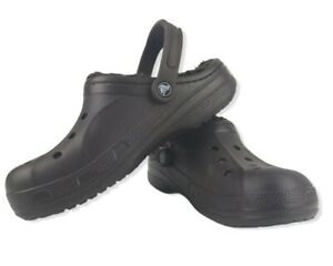 Crocs Mens & Womens casual stylish comfy cozy Ralen Lined clogs M9 Espresso NEW