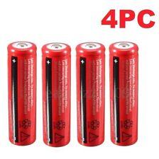 4Pcs 18650 4200mAh 3.7V Li-ion Rechargeable Battery For Flashlight Headlamp