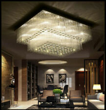 LED Crystal Ceiling Light Living Room Rain Drop Lighting Chandelier Lamp Fixture