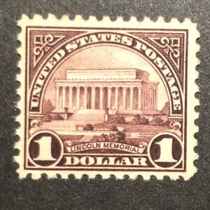 TDStamps: US Stamps Scott#571 $1 Mint OG Gum Stain