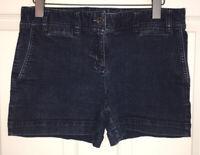 Ann Taylor Loft Cotton Blue Denim Stretch Flat Front Original Shorts Sz 4 EUC