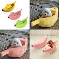 Plush Banana Shape Pet Bed House Tent Kennel Puppy Dog Cat Winter Warm Pad Nest
