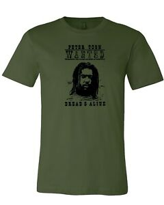 Peter tosh Wanted Dread Or Alive reggae rock Jamaica Island Gym T-shirt XS-4XL