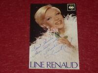 [Coll. BESNARDEAU] CASINO DE PARIS - CINEMA - CHANSON  Dédicace Line RENAUD 1979