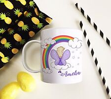 Personalised Plastic Unbreakable Kids Cup, Toddler Cup Rainbow Fairy Girl