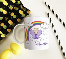 Personalised Fairy Plastic Mug Children's Birthday Gift Juice Cup Any Name