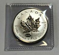 2015 Canada 1 oz .9999 Fine Silver Maple Leaf Einstein Privy Reverse Proof Coin