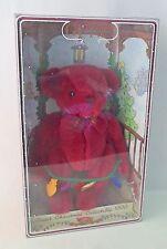 "Gund 1999 Christmas Bear Yulebeary 8899 Box Plush Maroon Lights 9"" Holiday Gift"