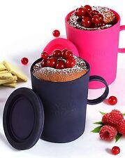 Mug cake en silicone fuchsia et violet. Yoko Design