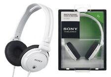Auricolari e cuffie bianche con cavo Sony