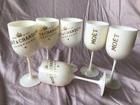 Moet & Chandon acrylic Champagne flutes set of 6 Veuve Clicquot