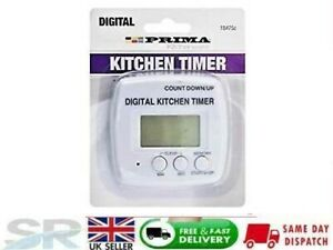 Large LCD Digital Kitchen Cooking Timer Count Down Clock Loud Alarm Stopwatch