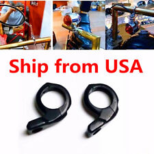 "Black 1"" Handlebar Turn signal / Mirror Clamps Mount For Harley Dyna Sportster"