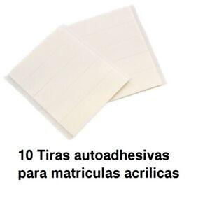 10x tiras de doble cara autoadhesivo Impermeable para matriculas acrilicas