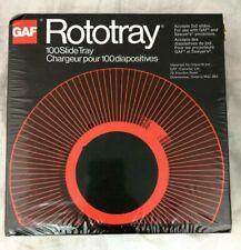 GAF Rototray 100 Photo Slide Tray 2X2 Slides GAF & Sawyer Projectors NEW SEALED