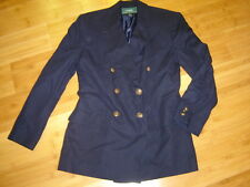 Ralph Lauren navy DB blazer jacket sz 4 back belted