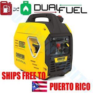 Champion 2000 Watt Dual Fuel Inverter Generator Ultralight SUPER QUIET Portable