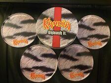 Set Of 4 Promotional Kahlua Coasters And Tin