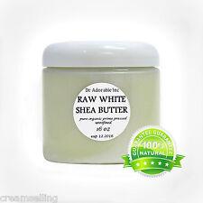 Premium High Quality WHITE Shea Butter Unrefined Raw Organic 16 OZ