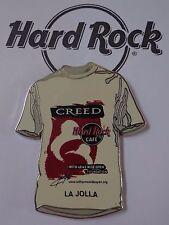 Hard Rock Cafe Pin T Shirt White with CREED LA JOLLA 2001