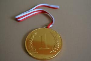 Novelty Milk Chocolate No.1 Medal with Ribbon 75mm, 23g