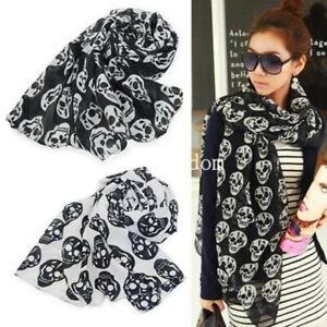 ELSA & ANNA® Viscose Skull Print Lady Scarf Wrap Shaw Stole Maxi Hijab SCF14