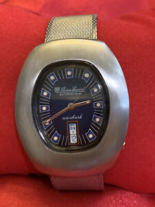 Vintage Large Lucien Piccard Seashark Automatic  Day/Date Swiss Made