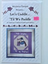 Mayberry Designs Let's Cuddle 'Till We Puddle Snowman Chart Cross Stitch