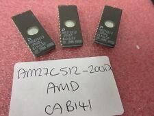 2x AM27C512200DC AM27C512 CERAMIC UV ERASABLE EPROM 512K 27C512 AMD £3.99 ea