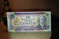 1971 $10 Dollar Bank of Canada Banknote VL0171499 AU 50 Crisp
