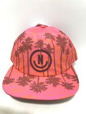 New NEFF Scrunched Cap Hat Unisex Pink Orange Breeze Palm 1 size  Z31