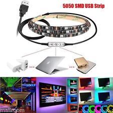 1M Multicolor RGB LED Strip Light schwarzlicht Streifen Lichterkette Lichtband