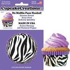 "89572 - ""Purple Zebra"" Cupcake Creations, No Muffin Pan Required Baking Cups"