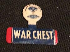 Green Duck Chicago War Chest Metal Tab Button