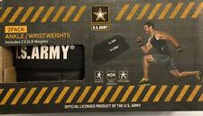 1 Set U.S. ARMY wrist ankle weights 2 Lbs Each 4 lbs Total
