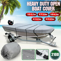 Waterproof Open Boat Cover Marine Grade Trailerable V-hull Dinghy 3.5m - 4.5