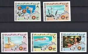 MAURITANIA 1975, Sc# 339-40, C156-8, Imperf., Apollo-Soyuz Space Project, MNH